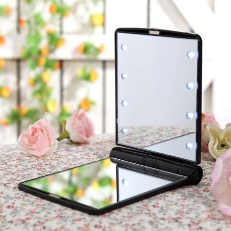 Illuminated Makeup Mirror (Black)