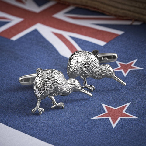 New Zealand Kiwi Bird Cufflinks