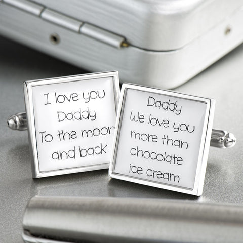 Personalised I Love You Daddy Cufflinks