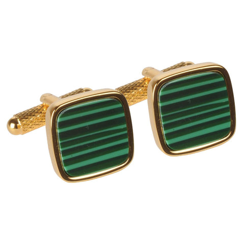 Gold with Green Centre Cufflinks