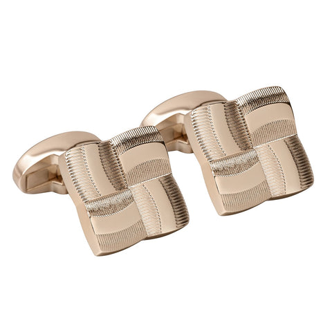Rose Gold Four Square Luxury Cufflinks