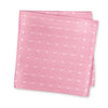 Pink & White Polka Dot Woven Silk Handkerchief