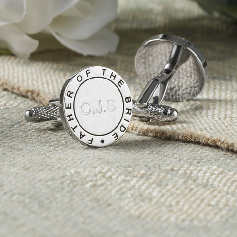 Personalised Father of The Bride Eternal Wedding Cufflinks