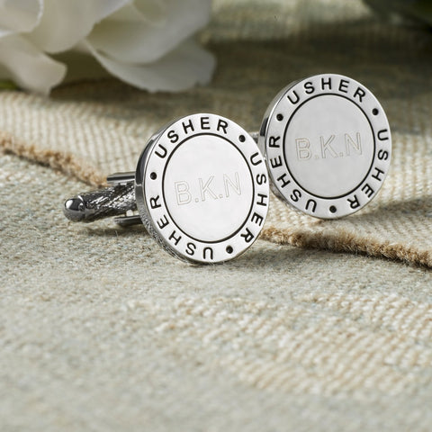 Personalised Usher Eternal Wedding Cufflinks
