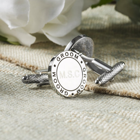Personalised Groom Eternal Wedding Cufflinks