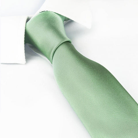 Plain Mint Green Slim Silk Tie