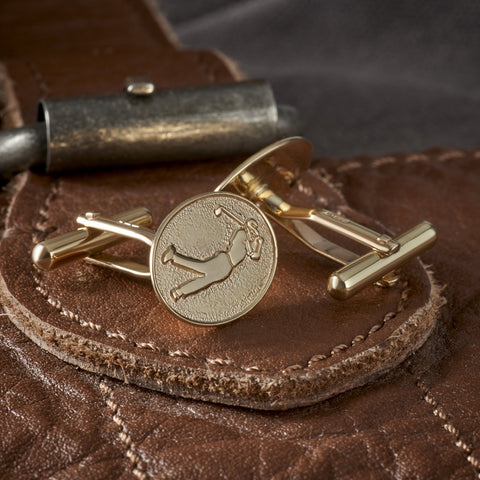 9ct Gold Golfer Cufflinks