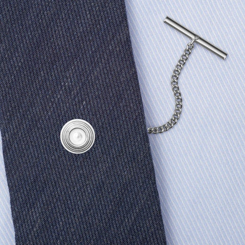 Sterling Silver Clay Pigeon Tie Tack