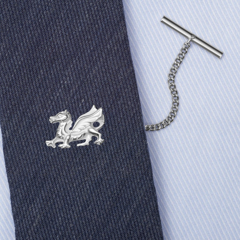 Sterling Silver Welsh Dragon Tie Tack