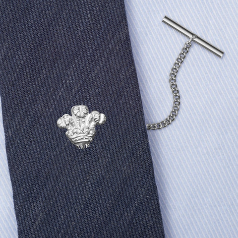 Sterling Silver Prince of Wales Feathers Tie Tack