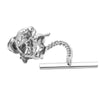 Sterling Silver Horse Racing Tie Tack