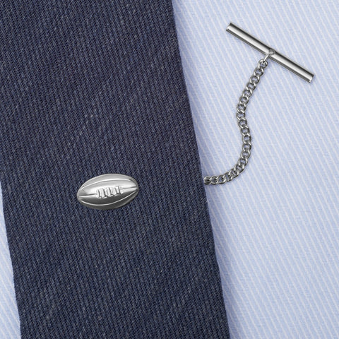 Sterling Silver Rugby Ball Tie Tack