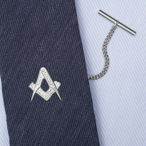 Sterling Silver Masonic Tie Tack