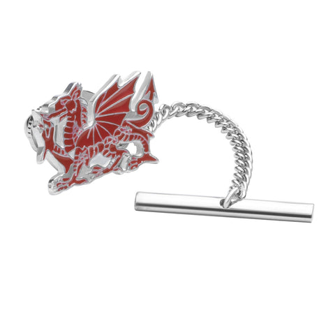 Sterling Silver Enamel Welsh Dragon Tie Tack