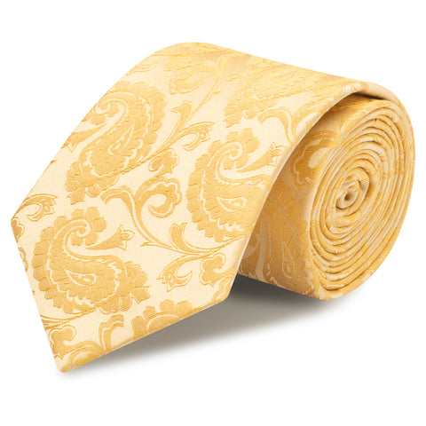 Classic Gold Paisley Silk Tie
