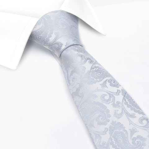 Classic Duck Egg Paisley Silk Tie