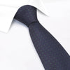 Navy & Green Micro Spot Silk Tie