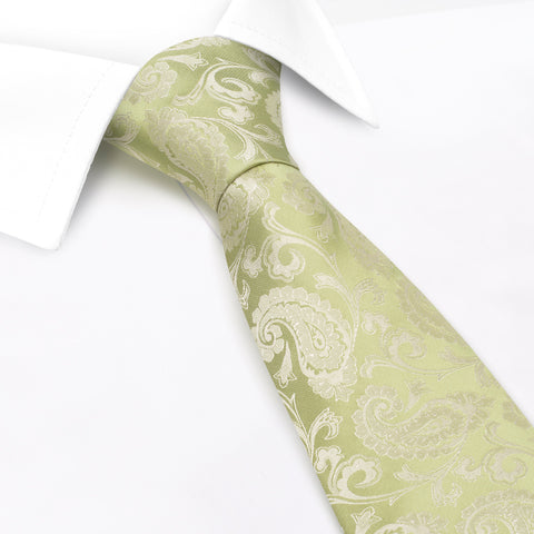 Classic Green Paisley Silk Tie