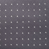 Charcoal Grey Micro Spot Silk Tie