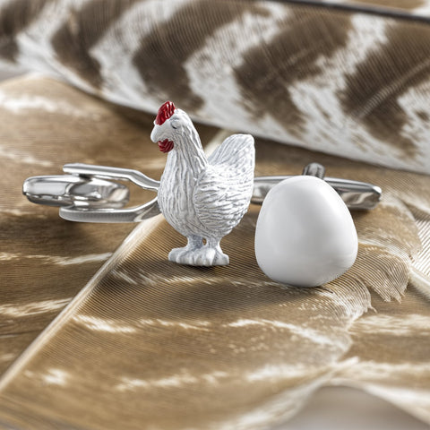 Chicken And Egg Cufflinks