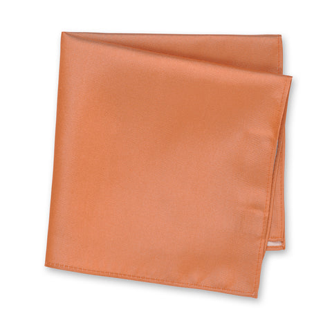 Plain Copper Silk Handkerchief