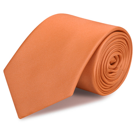 Plain Copper Silk Tie
