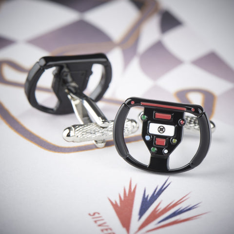Formula 1 Car Steering Wheel Cufflinks