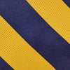 Navy & Yellow Striped Woven Silk Tie
