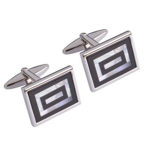 Mother of Pearl Retracting Rectangles Cufflinks