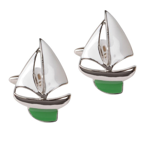 Green Yacht Cufflinks