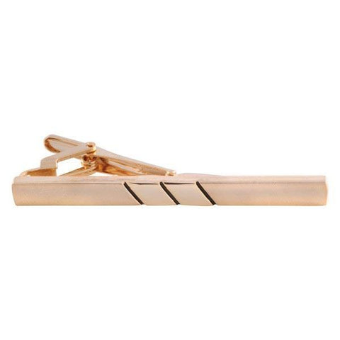 Parallel Lined Gold Tie Bar