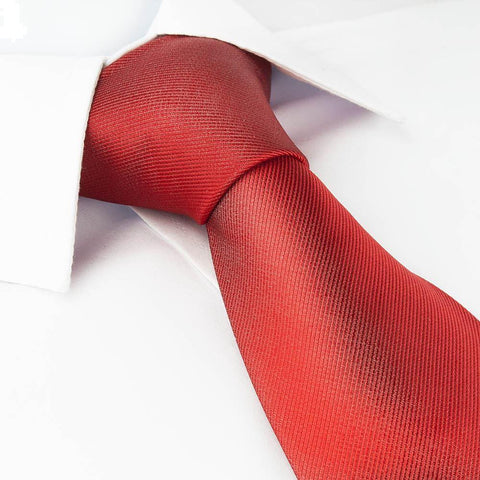 Luxury Plain Red Woven Silk Tie