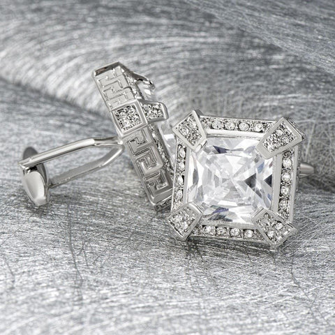 Executive Clear Crystal Cufflinks