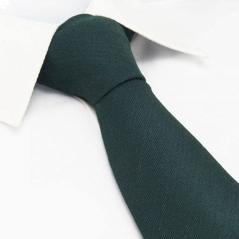 Plain Racing Green Wool Mix Tie