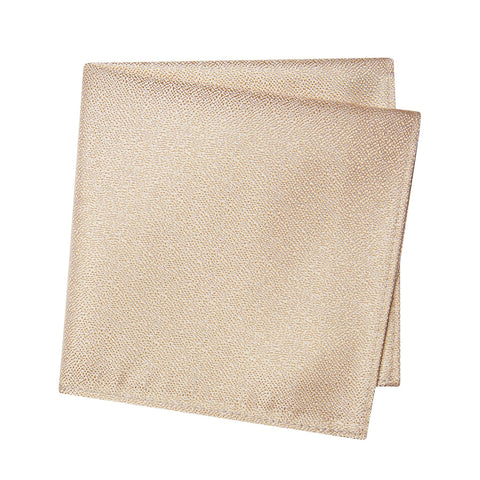 Pastel Gold Textured Woven Silk Handkerchief