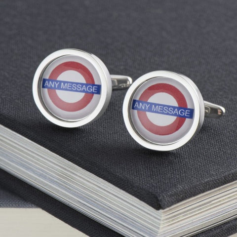 Personalised London Underground Station Cufflinks