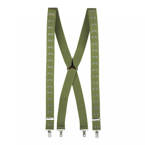 Country Green Shooting Braces