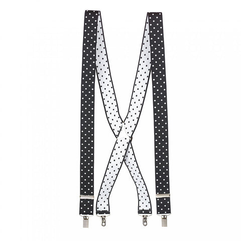 Black Polka Dot Braces