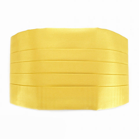Yellow Silk Cummerbund