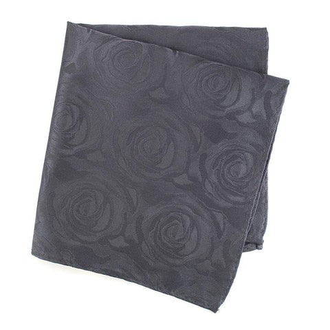 Grey Rose Luxury Woven Silk Handkerchief