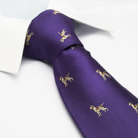Purple Dog Silk Tie