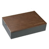 Stacker Mini Charcoal Cufflink Box (Lid Included)