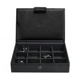 Stackers Black Lidded Mini Cufflink Box