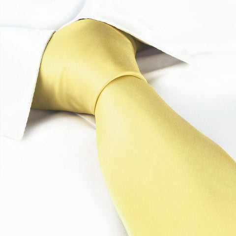Plain Lemon Yellow Tie