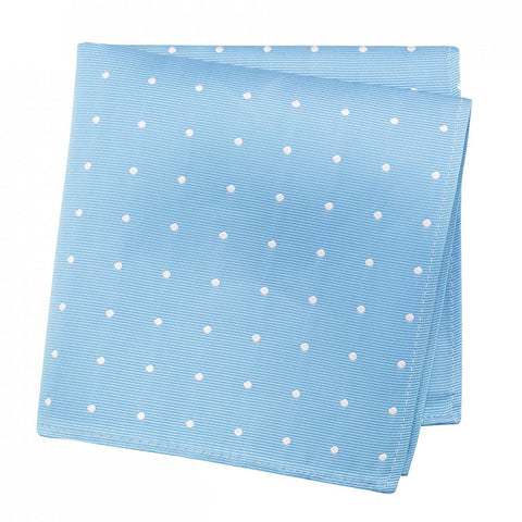 Sea Blue Polka Dot Silk Handkerchief