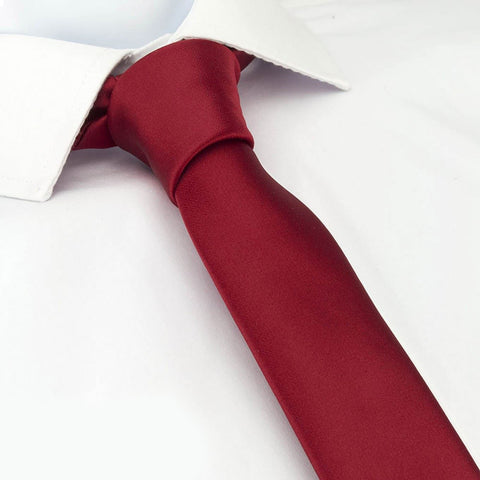 Plain Red Skinny Tie