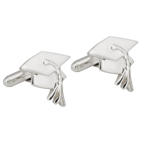 Sterling Silver Mortar Board Cufflinks