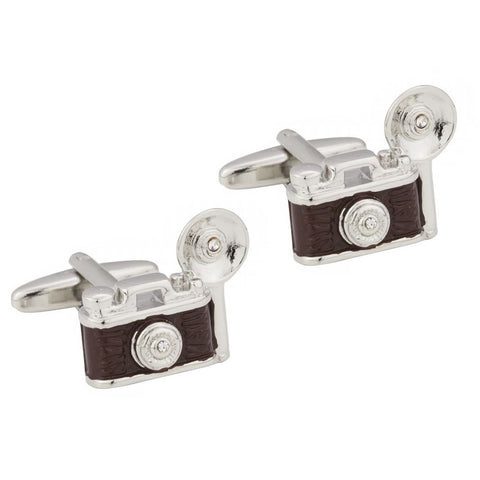 Retro Flash Bulb Camera Cufflinks