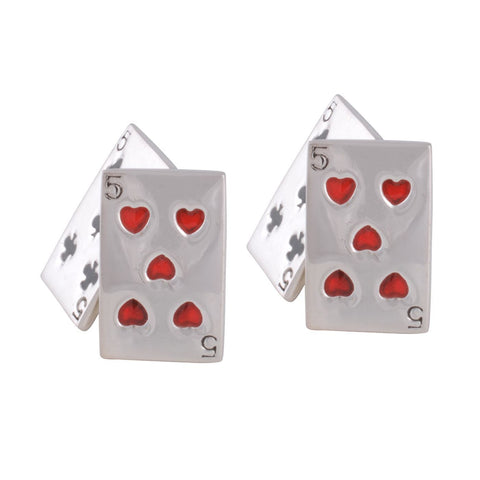 Sterling Silver Playing Card Cufflinks