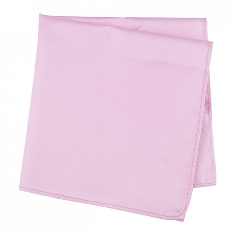 Plain Pink Silk Handkerchief